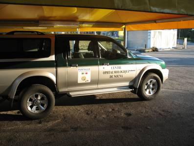 La nuova jeep fatta arrivare dall'Italia