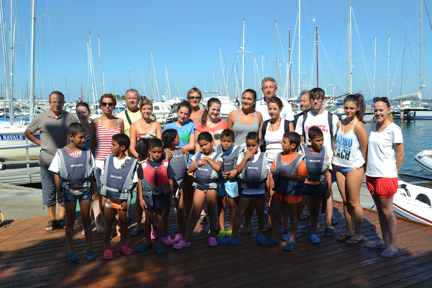 Agosto dello scorso anno. I bambini ospiti della Lega Navale di Grado
